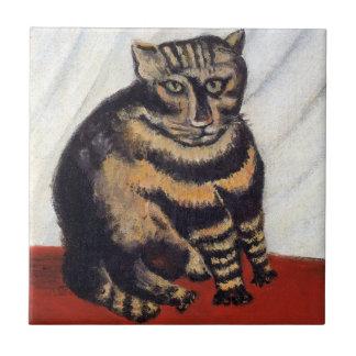 Henri Rousseau - The Tiger Cat ( Le Chat Tigre ) Tile