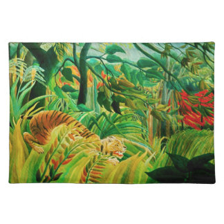 Henri Rousseau Tiger in a Tropical Storm Placemat
