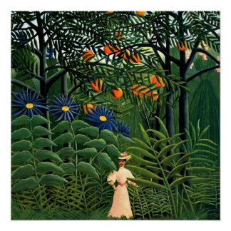 Henri Rousseau - Woman Walking in an Exotic Forest Poster