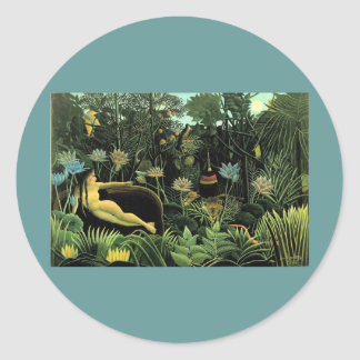 Henri Rousseau's The Dream (1910) Classic Round Sticker