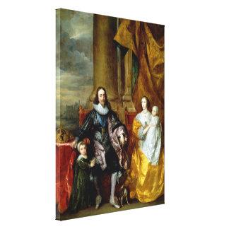 Henrietta Maria and Charles I by Van Dyck Canvas Print