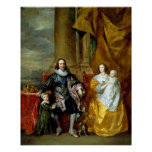 Henrietta Maria and Charles I by Van Dyck Poster