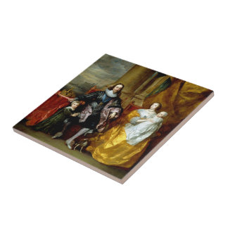 Henrietta Maria and Charles I by Van Dyck Tile