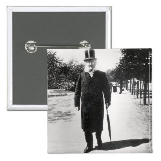 Henrik Ibsen (1828-1906) in Oslo, 1896 (b/w photo) 2 Inch Square Button