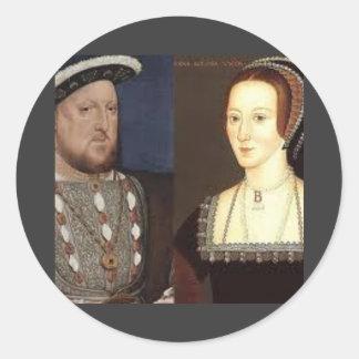 Henry 8th and Anne Boleyn Classic Round Sticker