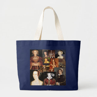 Henry 8th and his six wives large tote bag