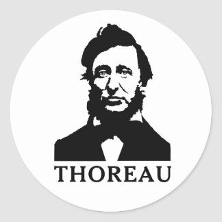 Henry David Thoreau Classic Round Sticker