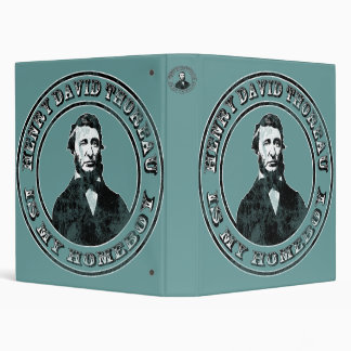 Henry David Thoreau (distressed) Vinyl Binders