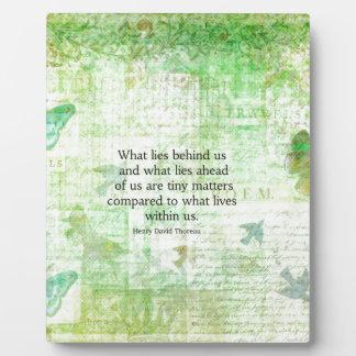 Henry David Thoreau Inspirational quote art Plaque