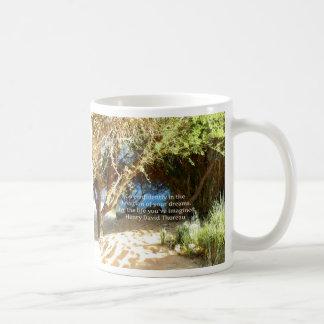 Henry David Thoreau Motivational Dream Quotation Coffee Mug