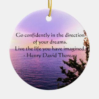Henry David Thoreau QUOTATION Ceramic Ornament