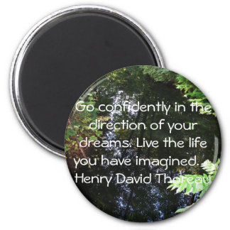 Henry David Thoreau QUOTATION Magnet