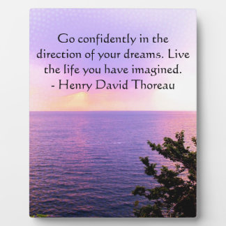 Henry David Thoreau QUOTATION Plaque