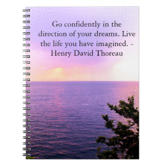 Henry David Thoreau QUOTATION Spiral Note Book