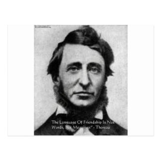 Henry David Thoreau Quote Postcard