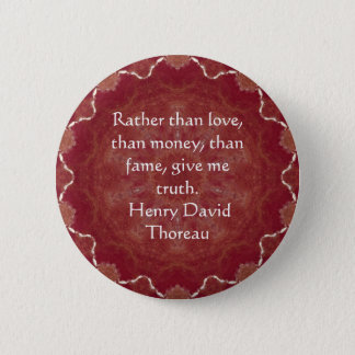 Henry David Thoreau Wisdom Quotation Saying 2 Inch Round Button
