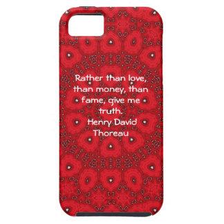 Henry David Thoreau Wisdom Quotation Saying iPhone 5 Cases