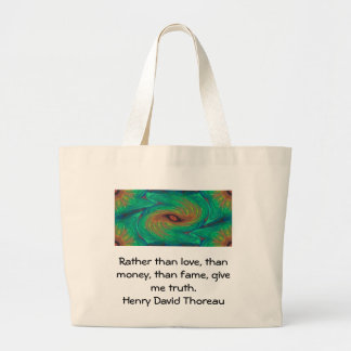 Henry David Thoreau Wisdom Quotation Saying Large Tote Bag