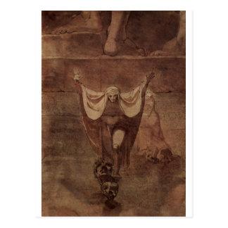 Henry Füssli - Dante Virgil Ice of Kozythus 1774 Postcard