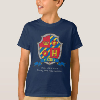 Henry H name meaning crest knights shield T-Shirt