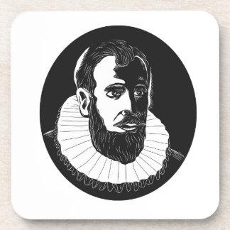Henry Hudson Explorer Woodcut Coaster