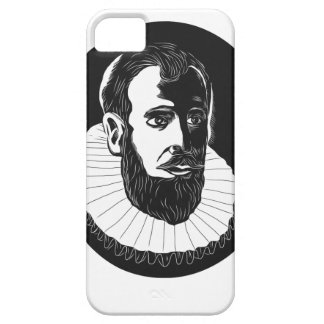 Henry Hudson Explorer Woodcut iPhone 5 Cases