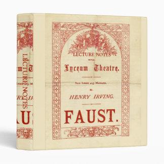 Henry Irving's Faust Vinyl Binder