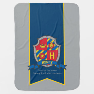 Henry letter H custom crest name meaning blanket