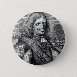 Henry Morgan Pirate Portrait 2 Inch Round Button