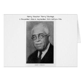 "Henry Thacker ""Harry"" Burleigh Card"