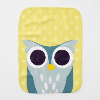 Henry the Owl Burp Cloths