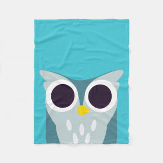 Henry the Owl Fleece Blanket