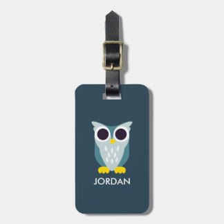Henry the Owl Luggage Tag