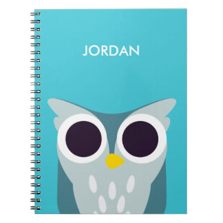 Henry the Owl Spiral Note Book