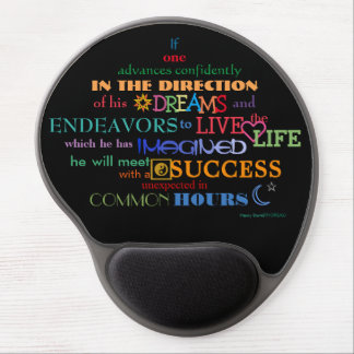 Henry Thoreau Dream and Live Life of Success Gel Mouse Pad