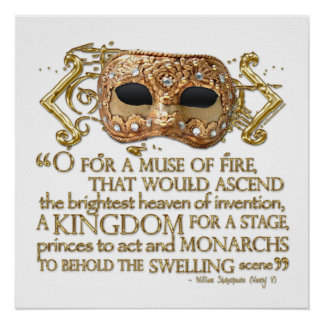 Henry V Quote (Gold Version) Poster