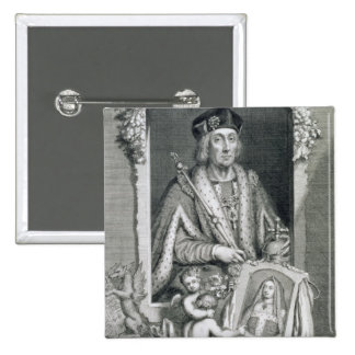 Henry VII (1457-1509) King of England from 1485, a 2 Inch Square Button