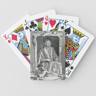 Henry VII (1457-1509) King of England from 1485, a Card Deck