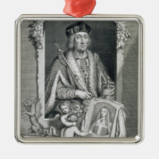 Henry VII (1457-1509) King of England from 1485, a Silver-Colored Square Ornament