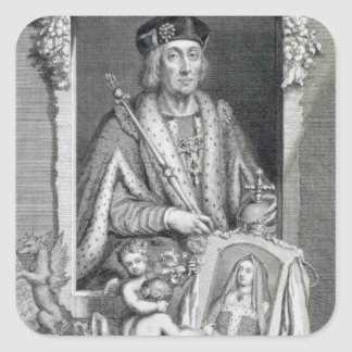 Henry VII (1457-1509) King of England from 1485, a Square Sticker