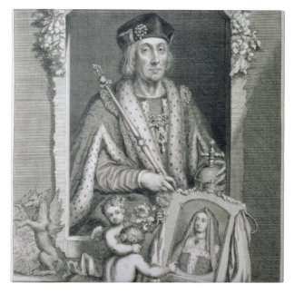 Henry VII (1457-1509) King of England from 1485, a Tiles