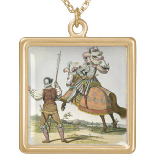 Henry VII, King of England (1457-1509) and a Billm Square Pendant Necklace