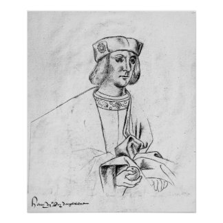 Henry VII  king of England Poster