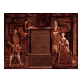Henry VII&VIII,Elisabeth,Jane by Hans Holbein Postcard
