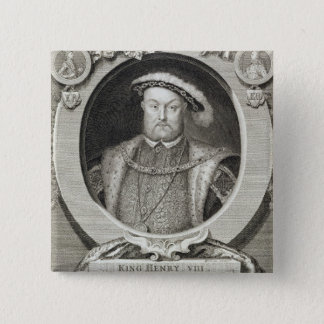 Henry VIII (1491-1547), after a painting in the Ro 2 Inch Square Button