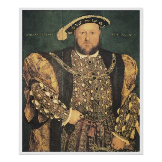 Henry VIII, 1539-40 Hans Holbein the Younger Poster