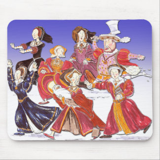 Henry VIII and his Six Wives Cartoon Mouse Mat