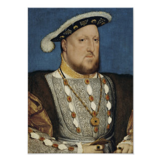 Henry VIII - Hans Holbein the Younger Poster