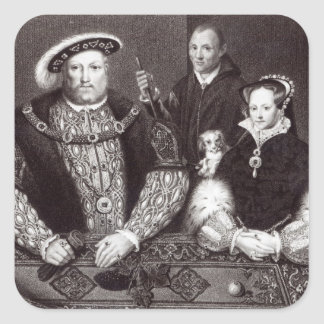 Henry VIII, his daughter Queen Mary Stickers