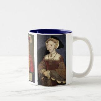 Henry VIII, Jane Seymour and Edward VI Two-Tone Coffee Mug